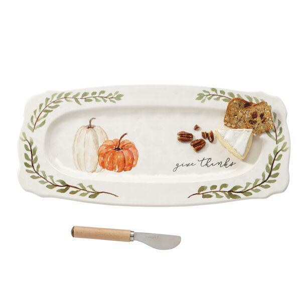 Pumpkin Hostess 2 Piece Platter Set by Mud Pie™
