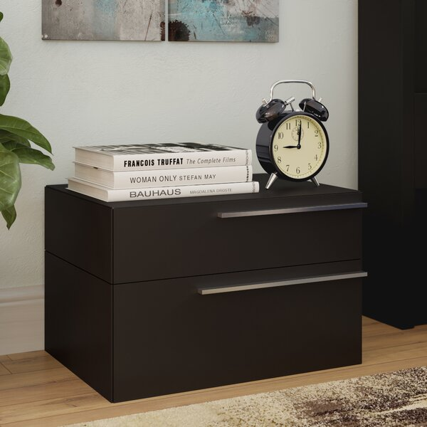 Callimont Contemporary 2 Drawer Nightstand by Wade Logan