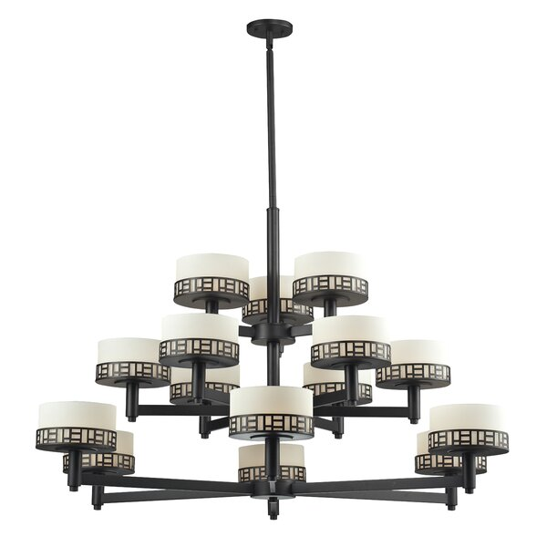 Wessel 15-Light Shaded Tiered Chandelier By Bloomsbury Market