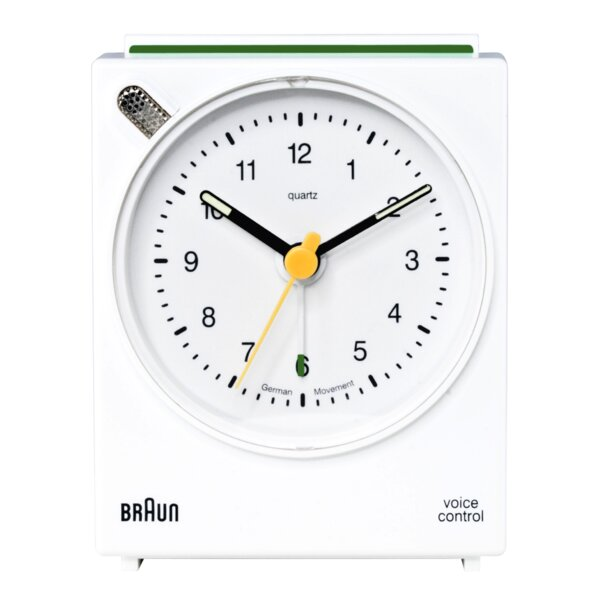 Voice Activated Alarm Tabletop Clock by Braun