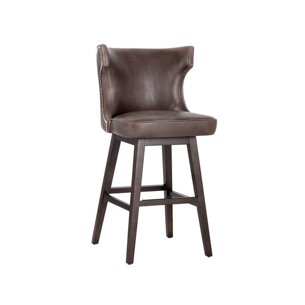 5West Neville Bar & Counter Swivel Stool by Sunpan Modern