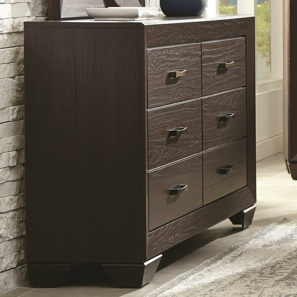 Westwood Wooden Transitional 6 Drawers Double Dresser by World Menagerie