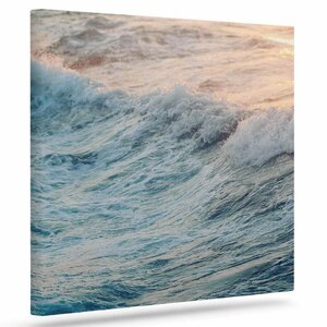 'Sherbert Ocean' Photographic Print on Canvas by Mercury Row