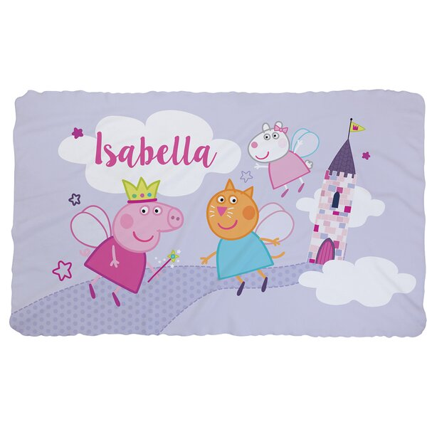 Personalized Peppa Pig Castle Fuzzy Throw by CPS