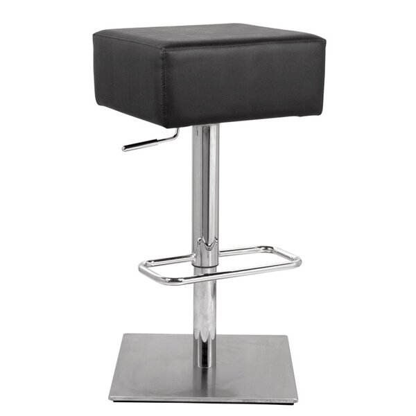 Berneau Adjustable Height Swivel Bar Stool By Orren Ellis