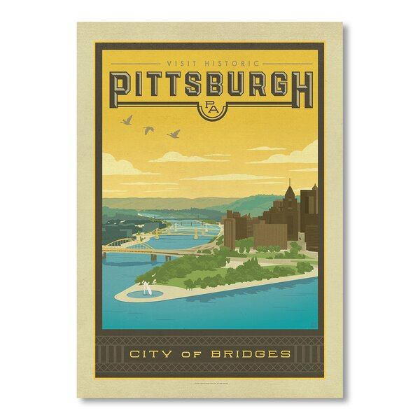 Pittsburgh Vintage Advertisement by East Urban Home