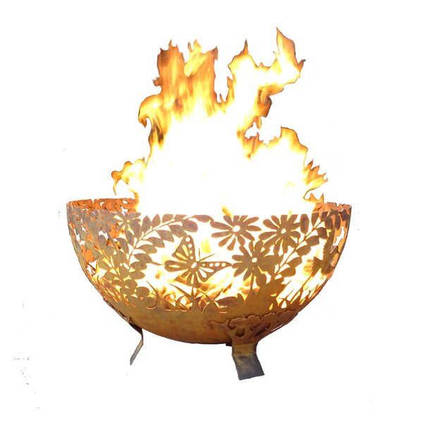 Hufford Garden Bowl Steel Wood Burning Fire Pit By Millwood Pines