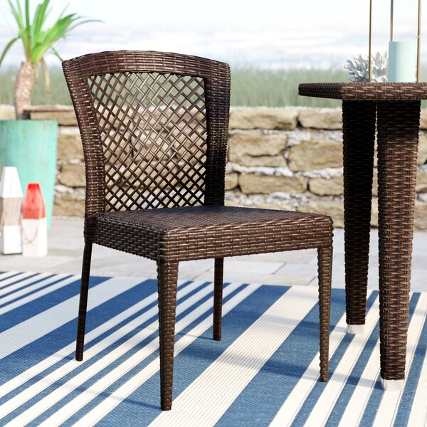 Caraquet Stacking Patio Dining Chair (Set of 2) by Beachcrest Home