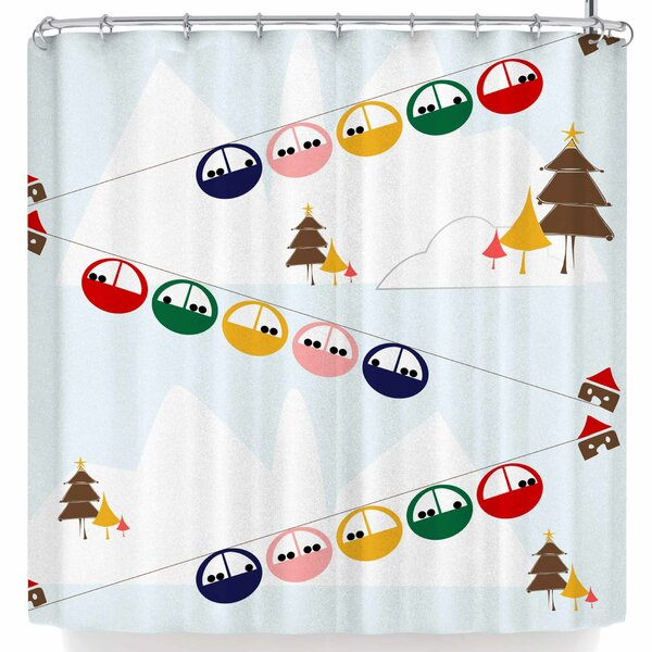 Bruxamagica Cable Skis Shower Curtain by East Urban Home