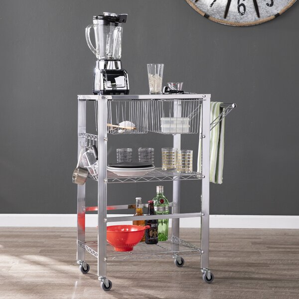 Taft Avenue Metal Bar Cart by Ebern Designs