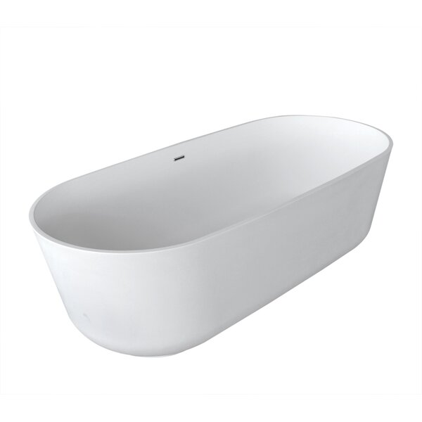 Norn 70.87 x 31.5 Artificial Stone Freestanding Bathtub by Spa Escapes