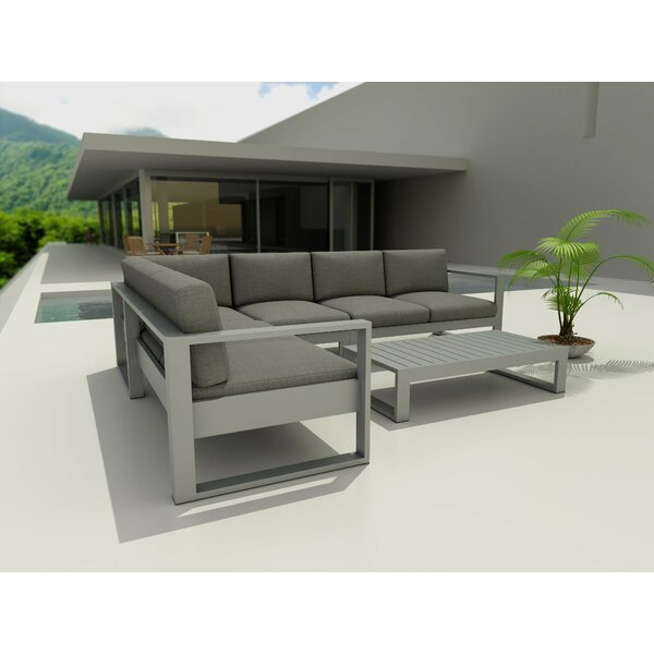 Granham 5 Piece Sectional Seating Group with Sunbrella Cushions by Brayden Studio