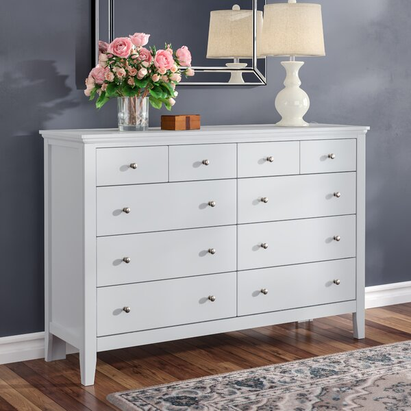 Aguilera 10 Drawer Double Dresser by Grovelane Teen