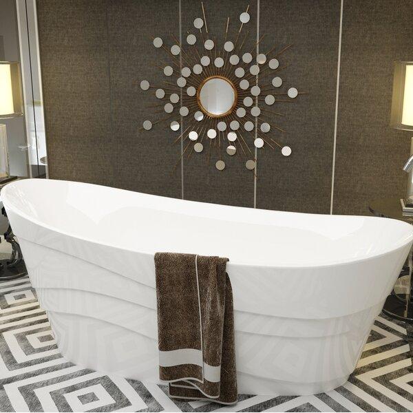 Stratus 67 x 29.5 Freestanding Soaking Bathtub by ANZZI