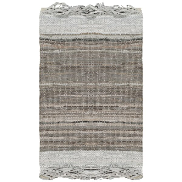 Swayze Hand Hooked Light Gray Area Rug by Mistana
