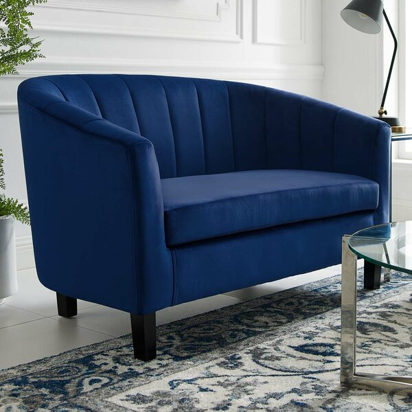 Wilbur Channel Loveseat By House Of Hampton Great price