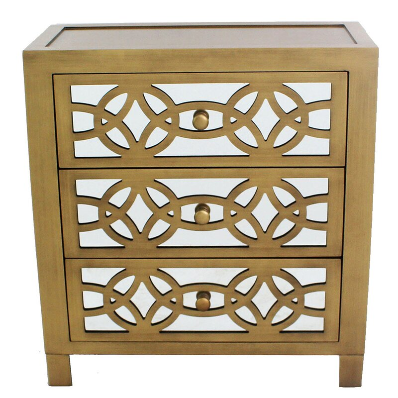 Perfect Irvin 3 Drawer Mirror Chest