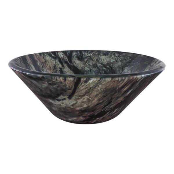 Mimetizzare Double Layer Glass Circular Vessel Bathroom Sink by Novatto