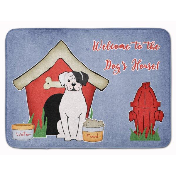 Dog House Boxer Cooper Memory Foam Bath Rug by East Urban Home
