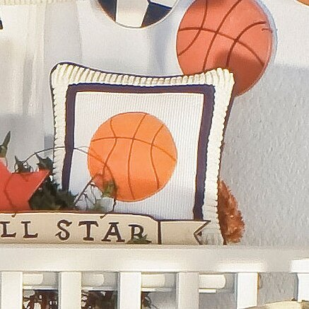 Julio Basketball Decorator Throw Pillow by Zoomie Kids