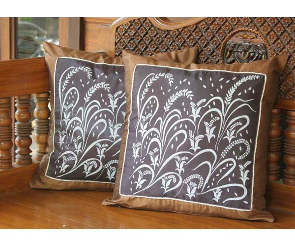 Fertile Field Cushion Cover (Set of 2) by Novica