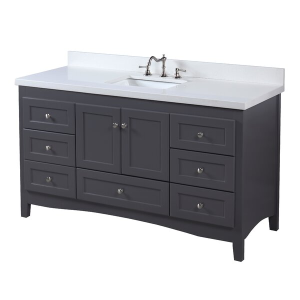 Abbey 60 Single Bathroom Vanity Set by Kitchen Bath Collection