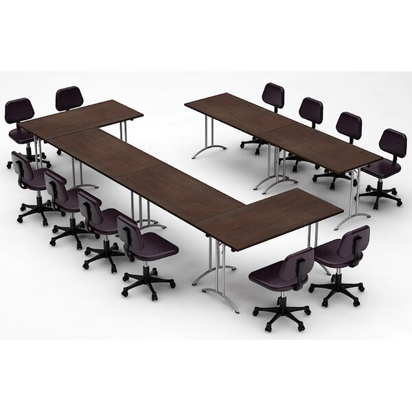 Meeting Seminar 6 Piece Rectangular 30H x 120W x 180L Conference Table Set by Team Tables