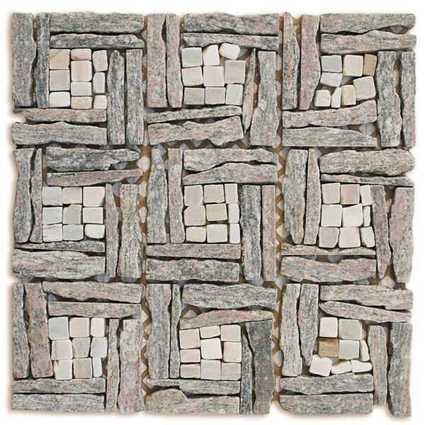 Landscape Wonder Random Sized Stone Mosaic Tile in Gray by Intrend Tile