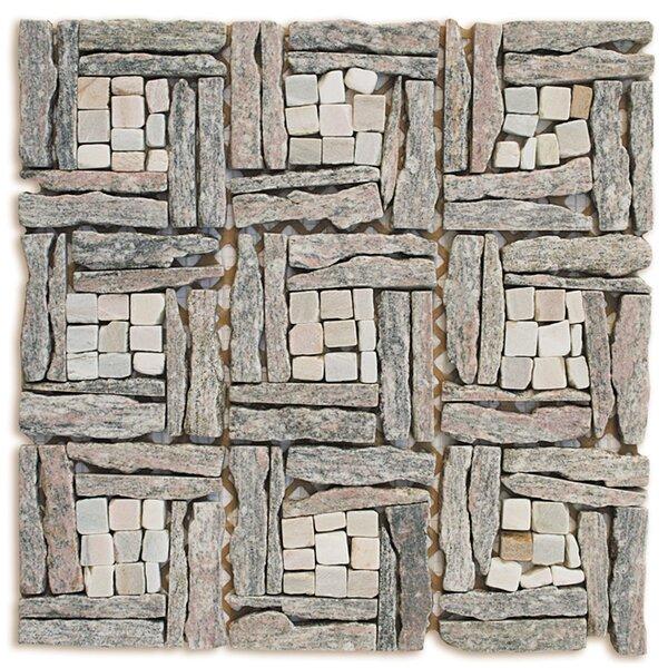 Landscape Wonder Random Sized Stone Mosaic Tile in Gray by Intrend Tile