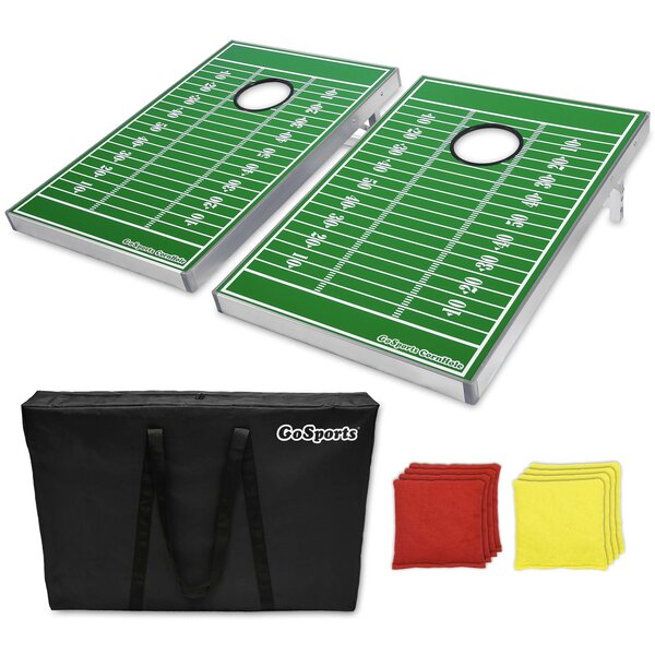Football Edition CornHole Bean Bag Toss Game Set by GoSports