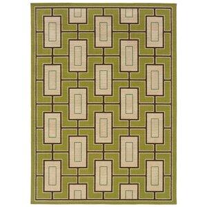 Newfield Green/Ivory Indoor/Outdoor Area Rug