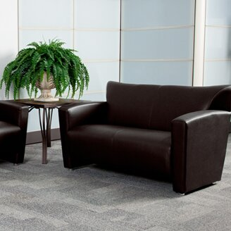 Gaige Leather Loveseat by Ebern Designs
