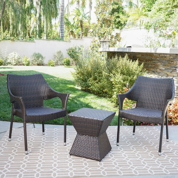 Pauling 3 Piece Rattan by Wrought Studio