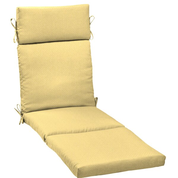 Texture Outdoor Chaise Lounge Cushion by Rosecliff Heights