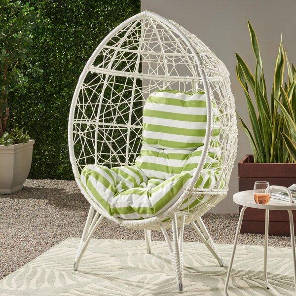 Burnam Wicker Teardrop Swing Chair By Bloomsbury Market