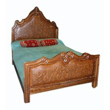 Upholstered Panel Bed by New World Trading