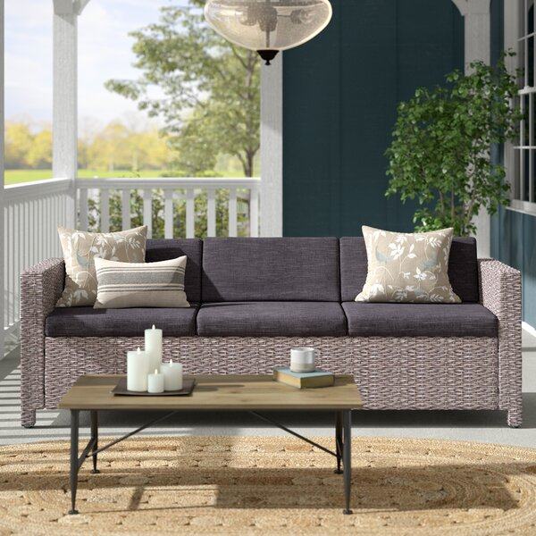 Furst Outdoor Patio Sofa with Cushions by Wade Logan