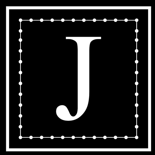 Letter J Wall Decal by Enchantingly Elegant