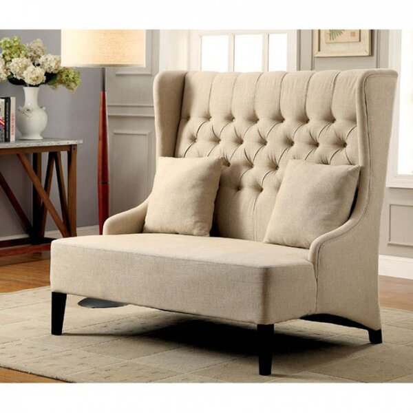 Roberto Contemporary Loveseat by Charlton Home