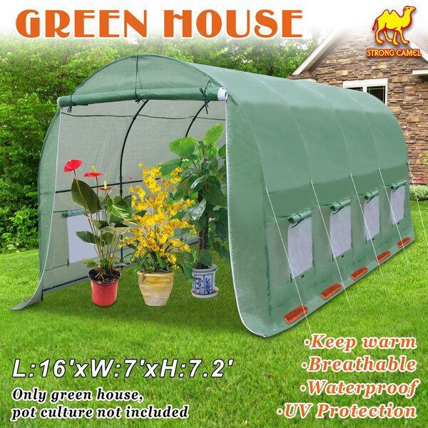 7 Ft. W x 16 Ft. D Greenhouse by Sunrise Outdoor LTD