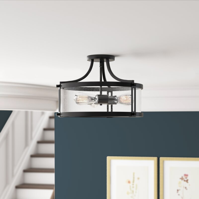Pedro 3 Light Semi Flush Mount