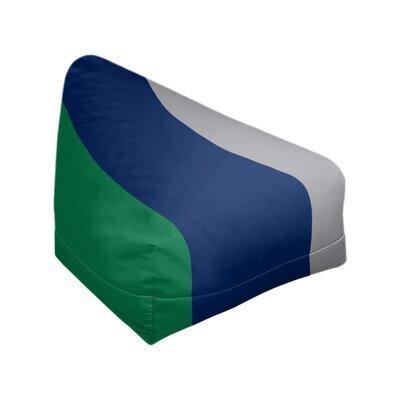 "Bean Bag Cover East Urban Home Fabric: Green/Blue/Cool Gray, Size: 42"" H x 38"" W x 2"" D"