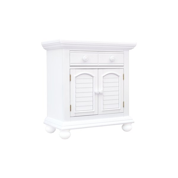 Laguna 2 Drawer Nightstand by Rosecliff Heights