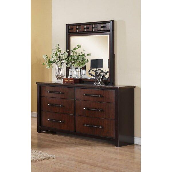 Aldora 6 Drawer Double Dresser with Mirror by Ivy Bronx
