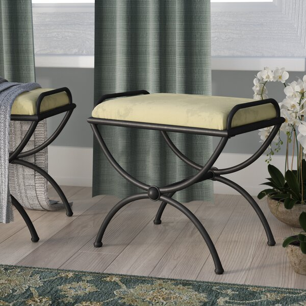 Blomberg Contemporary Iron Vanity Stool by Charlton Home