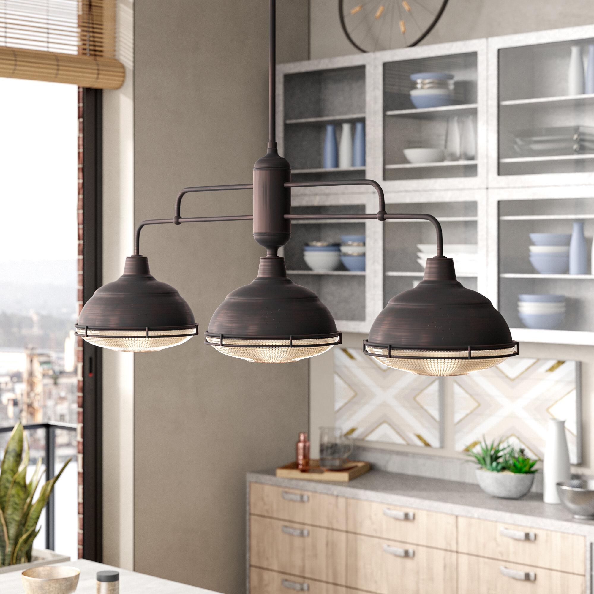 Bruges 3-Light Kitchen Island Dome Pendant