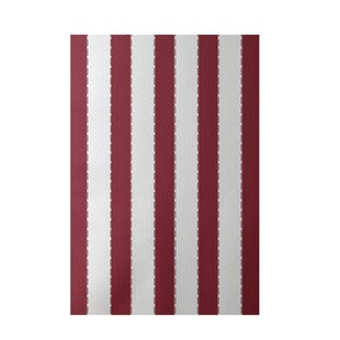Flatweave White/Red Area Rug by e by design