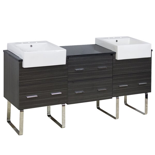 Xena Farmhouse 69 Double Bathroom Vanity Base Only