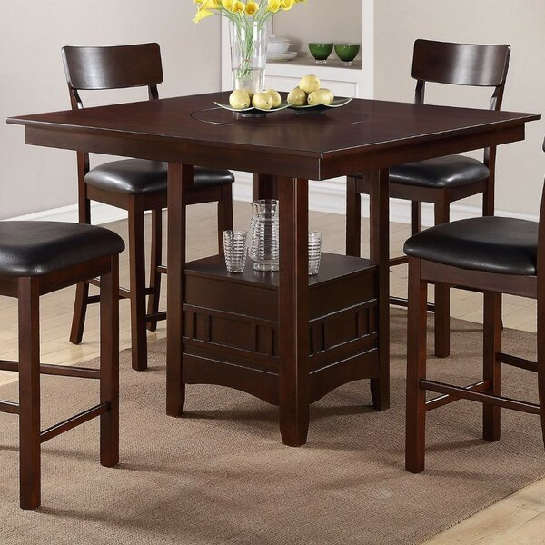 Parkland Wooden Counter Height Dining Table By Winston Porter Savings