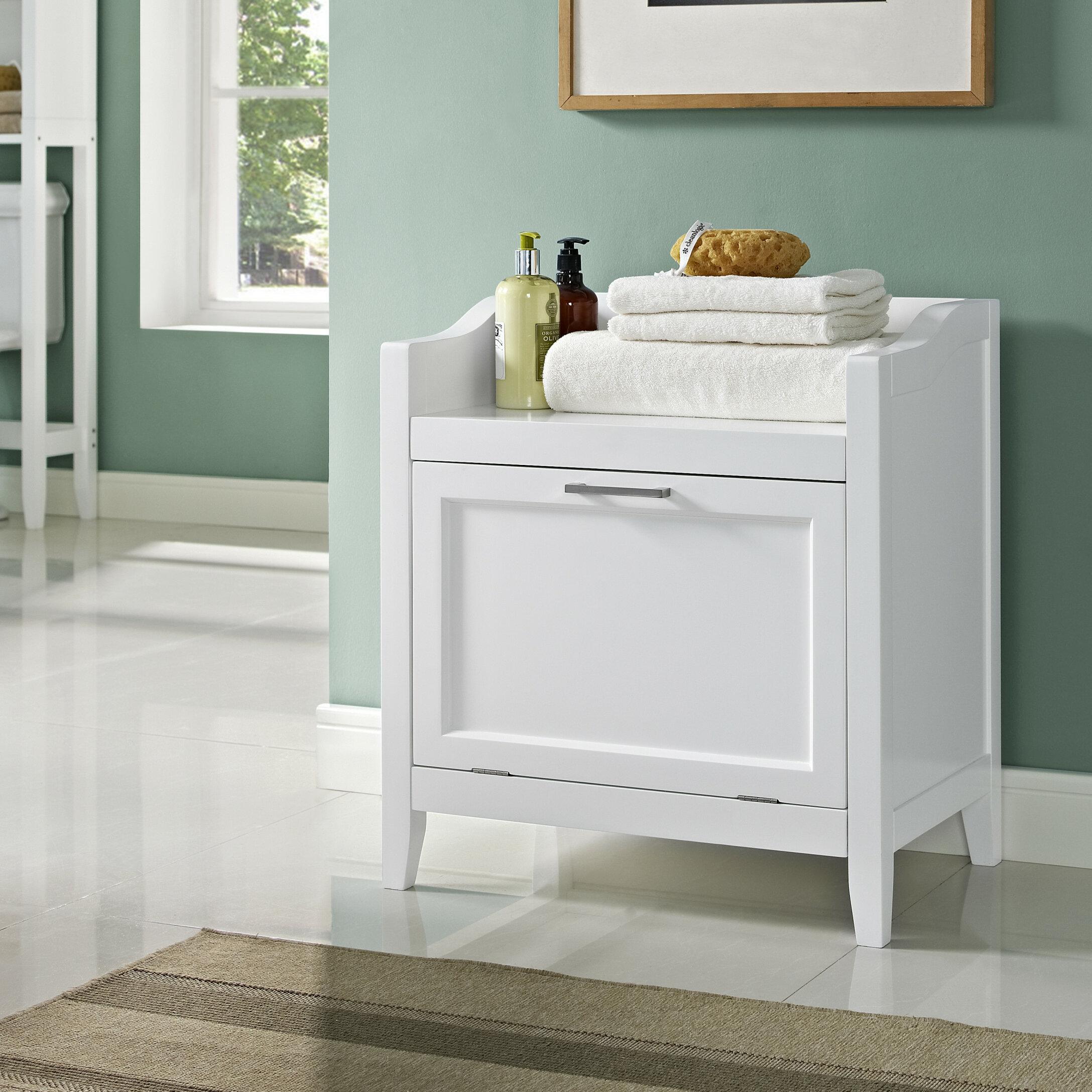 Simpli Home Avington Storage Cabinet Laundry Hamper & Reviews | Wayfair